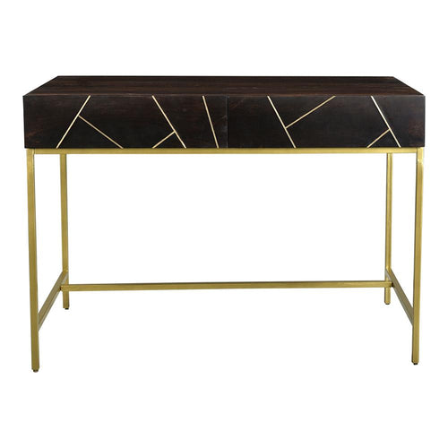 Tyler Desk, Contemporary Modern, Dark Brown