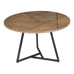 Transitional Xerra Coffee Wood Table - Rustic Coffee Table - Round Coffee Table