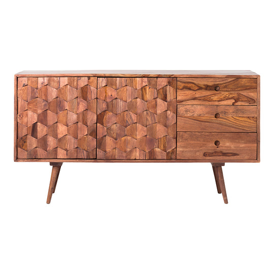 Mid - Century Modern Sideboard Cabinet - Media Entertainment Center Storage Cabinet
