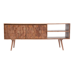 Mid - Century Modern O2 Sideboard Cabinet - Media Entertainment Center Console Table