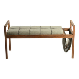 Contemporary Modern Scandi Wooden Bench - Entryway Bathroom Living Corridor Bench