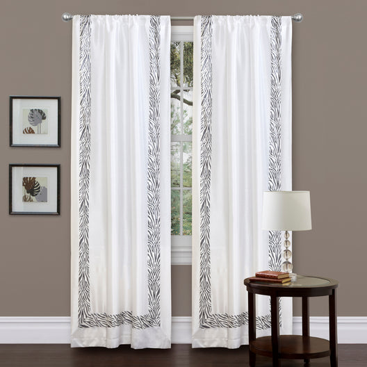 Urban Savanna Gray Window Curtain Single