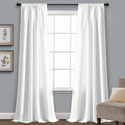 Venetian White Window Curtain Soft and Easy Washable Polyester