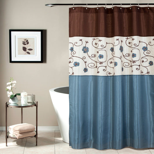 Royal Garden Blue Shower Curtain