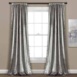 Velvet Dream Silver Bells Window Curtain Set