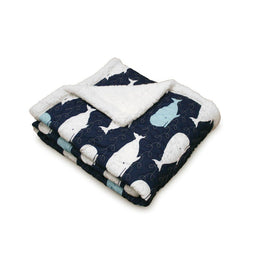 Whale Throw Navy Sherpa