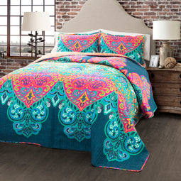 Boho Chic Quilt 3Pc Set