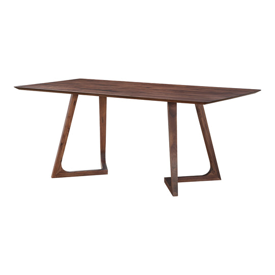 Godenza Dining Table Rectangular Walnut, Mid-Century Modern, Brown Moe's Home