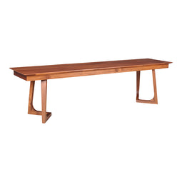 Godenza Bench Walnut, Mid-Century Modern, Brown