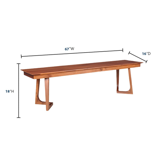 Mid - Century Modern Godenza Bench - Dining Banquette - Dining Bench