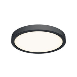 10 Inch LED Round Flush Mount - Black Finish