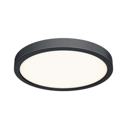 14 Inch LED Round Flush Mount - Black Finish