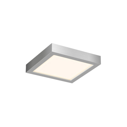 "6"" LED Square Flush Mount, 120V, 11W, 750 Lumens"