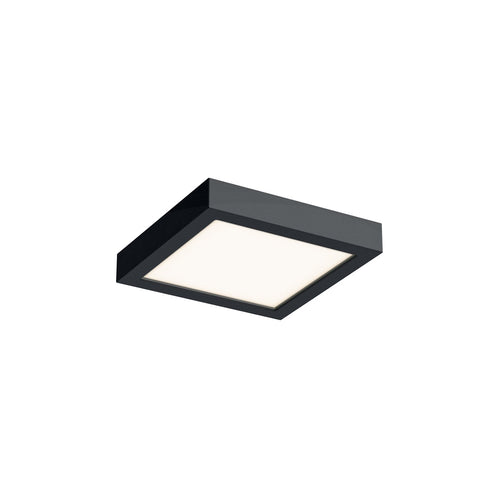 6 Inch LED Square Flush Mount - Black Finish
