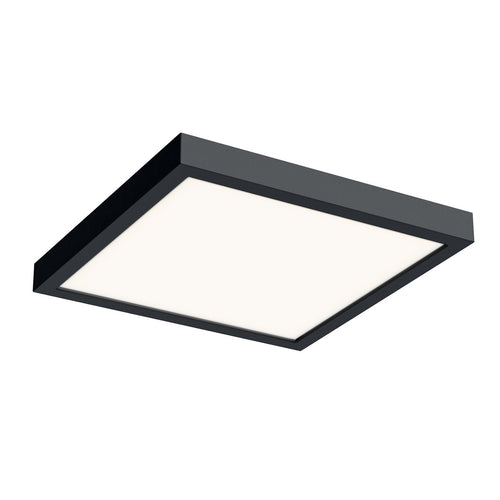 10 Inch LED Square Flush Mount - Black Finish