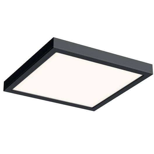 14 Inch LED Square Flush Mount - Black Finish