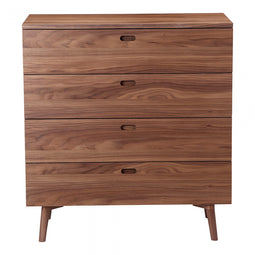Solano Chest, Brown, Mid-Century Modern