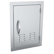 Load image into Gallery viewer, Classic Series 14x20 Vertical Access Door with Vents , 304 Stainless Steel Construction & Even 4 Light Brushed Finishes , Top & Bottom Magnets Secure Doors , Flush finish look & Louvered vents for air ventilation