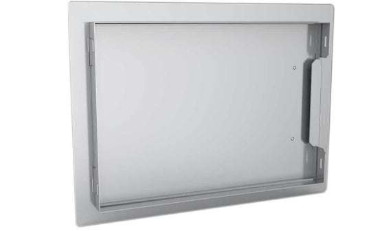 Classic Series Horizontal Access Door & Even 4 Light Brushed Finishes