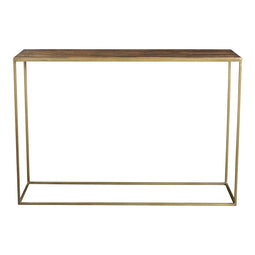Long Lasting Meadow Console Table - Natural - Industrial Gold Frame Console Table