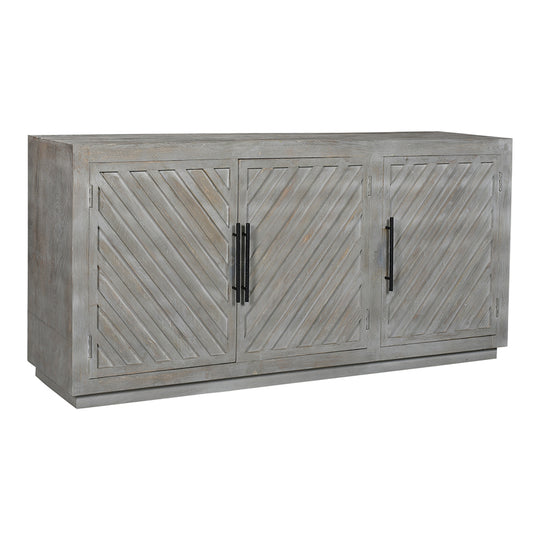 Columbus Three Door Sideboard, Transitional, Light Grey