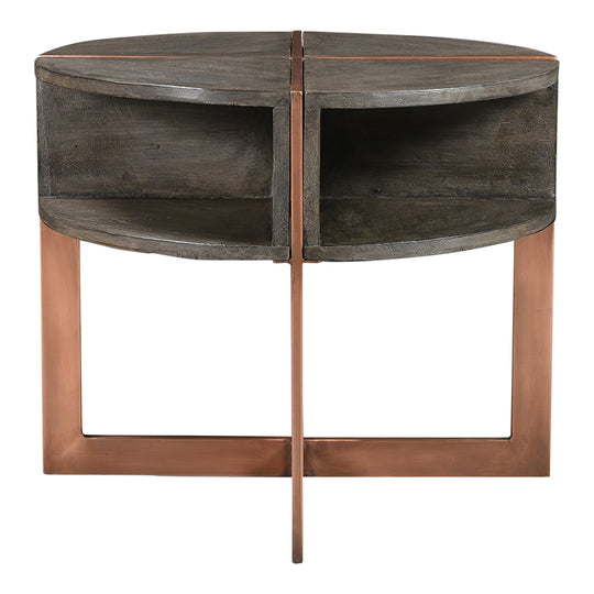 Bancroft Side Table, Grey, Contemporary Modern