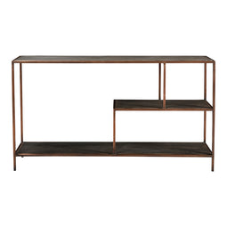 13x55x30 Inch - Bale Console Tv Stand With Extra Shelves In Wood - Sofa table With Storage