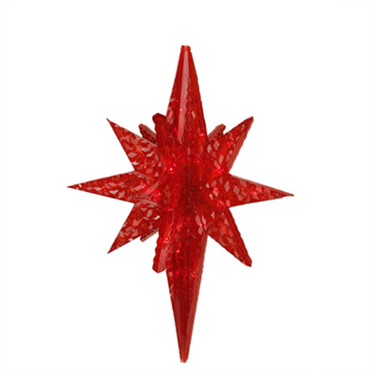 "19"" LED Lighted Red Twinkling 3D Bethlehem Star Hanging Christmas Decoration"