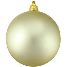 Champagne Gold Shatterproof Matte Christmas Ball Ornament 10