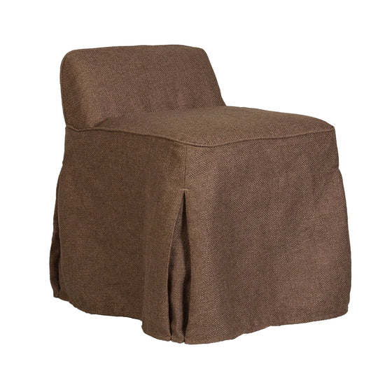 Willow Slipcover Vanity Half Chair - Hallway  Accent Chair - Comfy Chairs For Bedroom