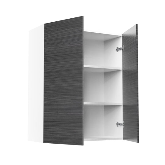 "30"" X 36"" Double Door Wall Cabinet - Dark Wood"