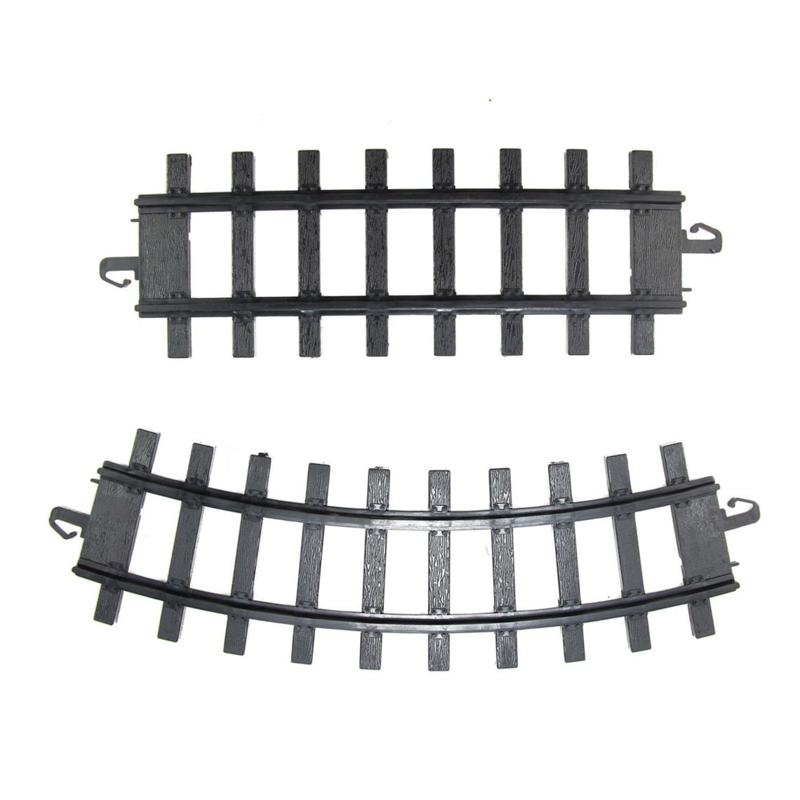 Pack of 12 Black Replacement Train Set Track Pieces - 4
