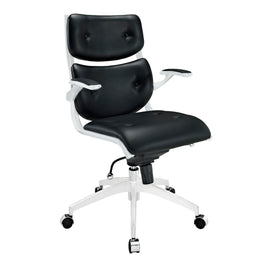 Professional Dual Function Ergonomic Push Mid Back Office Chair(Black) - For Lumbar Support