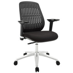 Reveal Premium  Computer Office Desk Chair With Lumbar Support - Black