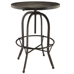 Sylan Round Wood Bar Table - Metal Dining Room Table