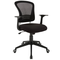Computer Ergonomic Mesh Poise Office  Chair with Armrest (Black) - Desk Chair