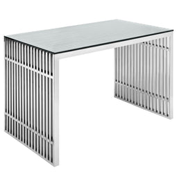Grid Iron Stainless Steel Contemporary Modern Style Office Desk