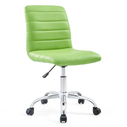 Ripple Armless Mid Back Vinyl Swivel Computer Desk Office Chair - Computer Chair