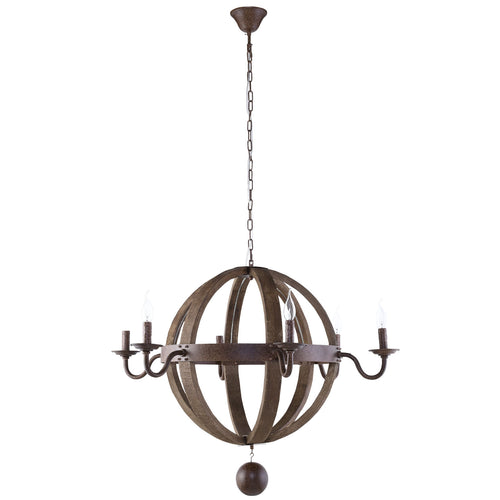 Catapult Chandelier, Antique Brass