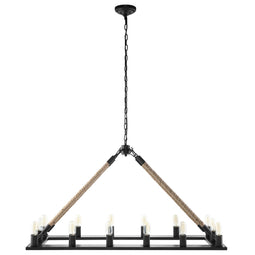 Bridge Chandelier, Black