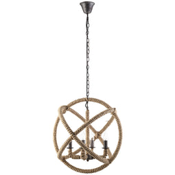 Modern Farmhouse Intention Pendant Globe Steel Chandelier - Brown Ceiling Light