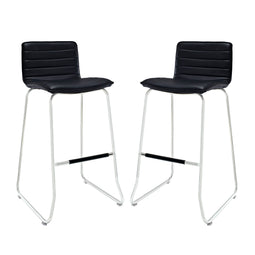 Contemporary Modern Dive High Bar Stool Set Of 2 - Counter Height Stools