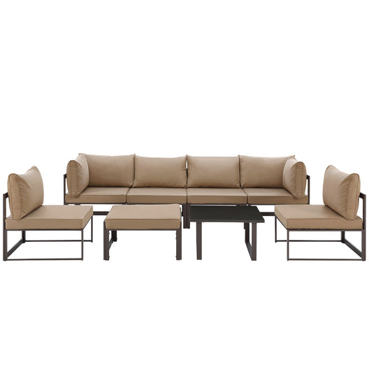 Fortuna 8 Piece 4 Center Outdoor Patio Sectional Sofa Set