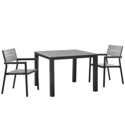 Maine 3 Piece with Armchair Outdoor Patio Dining Set