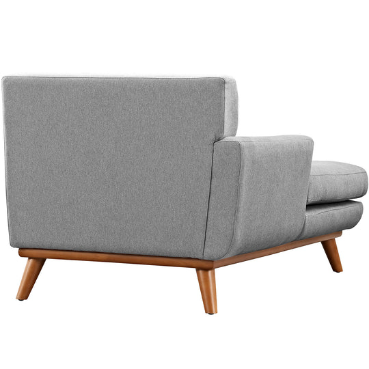 Modern Engage Upholstered Fabric Accent Arm Chair - Couch With Chaise