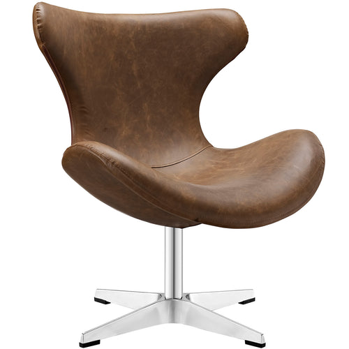 Modern Faux Leather Wing back Helm Lounge Chair - Pub Chair - Bedroom Chair
