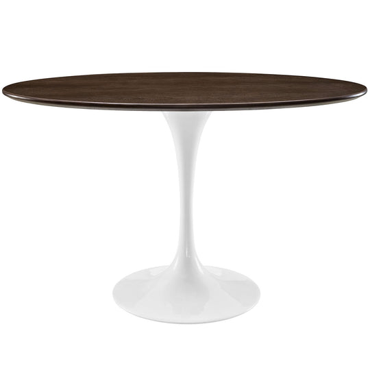 "Lippa 48"" Oval Walnut Dining Table"