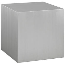 Modern Cast Cube Stainless Steel Table - Dining Side Table - Bedside Table