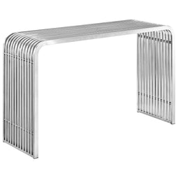 Stainless Steel Console Table Silver Modern Contemporary Rustic Entryway Table - Hallway