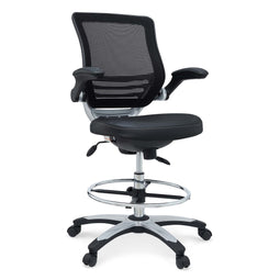 Reception Ergonomic edge Vinyl Drafting Chair With Leg Support -  Drafting Stool Office Chair With excellent Back Support